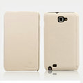 Nillkin Flip leather Cases Holster Covers for Samsung Galaxy Note i9220 N7000 i717 - Cream