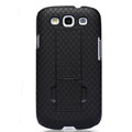 Nillkin Lozenge Skin Hard Cases Covers for Samsung Galaxy SIII S3 I9300 I9308 - Black