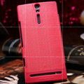 Nillkin Retro Style leather Cases Holster Covers for Sony Ericsson LT26i Xperia S - Red