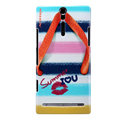 Nillkin Summer Fashion Hard Cases Skin Covers for Sony Ericsson LT26i Xperia S - Slipper