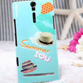 Nillkin Summer Fashion Hard Cases Skin Covers for Sony Ericsson LT26i Xperia S - Straw hat