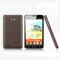 Nillkin Super Matte Hard Cases Skin Covers for Samsung Galaxy Note i9220 N7000 i717 - Brown