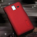 Nillkin Super Matte Hard Cases Skin Covers for Samsung S7250 Wave M - Red