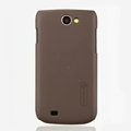 Nillkin Super Matte Hard Cases Skin Covers for Samsung i8150 Galaxy W - Brown