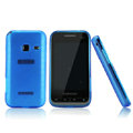 Nillkin Super Matte Rainbow Cases Skin Covers for Samsung S5820 - Blue