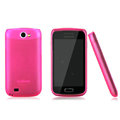 Nillkin Super Matte Rainbow Cases Skin Covers for Samsung i8150 Galaxy W - Pink