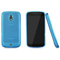 Nillkin Super Matte Rainbow Cases Skin Covers for Samsung i9250 GALAXY Nexus Prime i515 - Blue