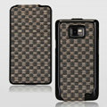 Nillkin Weave leather Cases Holster Covers for Samsung i9100 i9108 i9188 Galasy S2 - Black