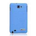 Nillkin leather Cases Holster Covers for Samsung Galaxy Note i9220 N7000 i717 - Blue