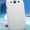 Nillkin leather Cases Holster Covers for Samsung Galaxy SIII S3 I9300 I9308 - White
