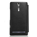 Nillkin leather Cases Holster Covers for Sony Ericsson LT26i Xperia S - Black