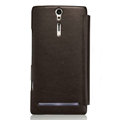 Nillkin leather Cases Holster Covers for Sony Ericsson LT26i Xperia S - Brown