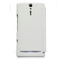 Nillkin leather Cases Holster Covers for Sony Ericsson LT26i Xperia S - White