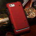 Nillkin Super Matte Hard Cases Skin Covers for Motorola XT615 - Red
