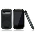 Nillkin Super Matte Rainbow Cases Skin Covers for Motorola XT319 - Black