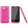 Nillkin Super Matte Rainbow Cases Skin Covers for Motorola XT615 - Pink
