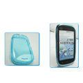 Nillkin Transparent Rainbow Soft Cases Covers for Motorola XT800 - Blue