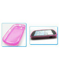 Nillkin Transparent Rainbow Soft Cases Covers for Motorola XT800 - Pink