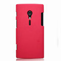Nillkin Super Matte Hard Cases Skin Covers for Sony Ericsson LT28i Xperia ion - Red