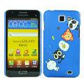 Cartoon Pet Matte Hard Cases Covers for Samsung I9050 - Blue