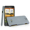 IMAK Cowboy Shell Quicksand Hard Cases Covers for HTC X720d One XC - Gray