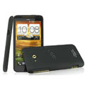 IMAK Ultrathin Matte Color Covers Hard Cases for HTC X720d One XC - Black