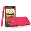 IMAK Ultrathin Matte Color Covers Hard Cases for HTC X720d One XC - Rose