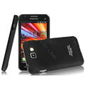 IMAK Ultrathin Matte Color Covers Hard Cases for Samsung I9050 - Black