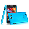 IMAK Ultrathin Matte Color Covers Hard Cases for Samsung I9050 - Blue