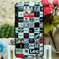 Luxury Painting Brand Hard Cases Skin Covers for HTC X720d One XC - Black