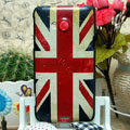 Luxury Painting British Flag Hard Cases Skin Covers for HTC X720d One XC - Red