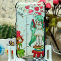 Luxury Painting Cute girl Hard Cases Skin Covers for HTC X720d One XC - White