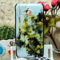 Luxury Painting Daisy Hard Cases Skin Covers for HTC X720d One XC - Yellow