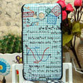 Luxury Painting Formula Hard Cases Skin Covers for HTC X720d One XC - White