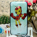Luxury Painting Iron Man Hard Cases Skin Covers for HTC X720d One XC - Blue