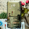 Luxury Painting Lovers Hard Cases Skin Covers for HTC X720d One XC - Brown
