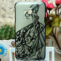 Luxury Painting Pretty girl Hard Cases Skin Covers for HTC X720d One XC - Gray