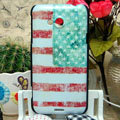 Luxury Painting USA American Flag Hard Cases Skin Covers for HTC X720d One XC - Red
