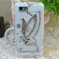 Bling Angel Crystals Hard Cases Diamond Covers for Motorola XT685 - White