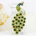 Bling Peacock Crystals Hard Cases Diamond Covers for Motorola XT685 - Green
