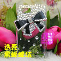 Bling bowknot Crystal Hard Cases Diamond Covers for Motorola XT685 - Black