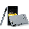 IMAK Cowboy Shell Quicksand Hard Cases Covers for Sony Ericsson ST27i Xperia Go - Gray
