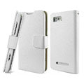 IMAK Slim leather Cases Luxury Holster Covers for Motorola XT685 - White
