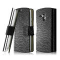 IMAK Slim leather Cases Luxury Holster Covers for Sony Ericsson MT25i Xperia neo L - Black