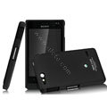 IMAK Ultrathin Matte Color Covers Hard Cases for Sony Ericsson ST27i Xperia Go - Black