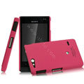 IMAK Ultrathin Matte Color Covers Hard Cases for Sony Ericsson ST27i Xperia Go - Rose