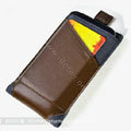 ROCK Rhyme Dynamic Leather Cases Holster Covers for Motorola XT685 - Coffee