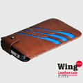 ROCK Wing series Leather Cases Holster Covers for Motorola XT685 - Brown