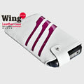 ROCK Wing series Leather Cases Holster Covers for Motorola XT685 - White