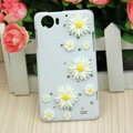 Bling Chrysanthemum Crystal Cases Diamond Covers for OPPO Finder X907 - White